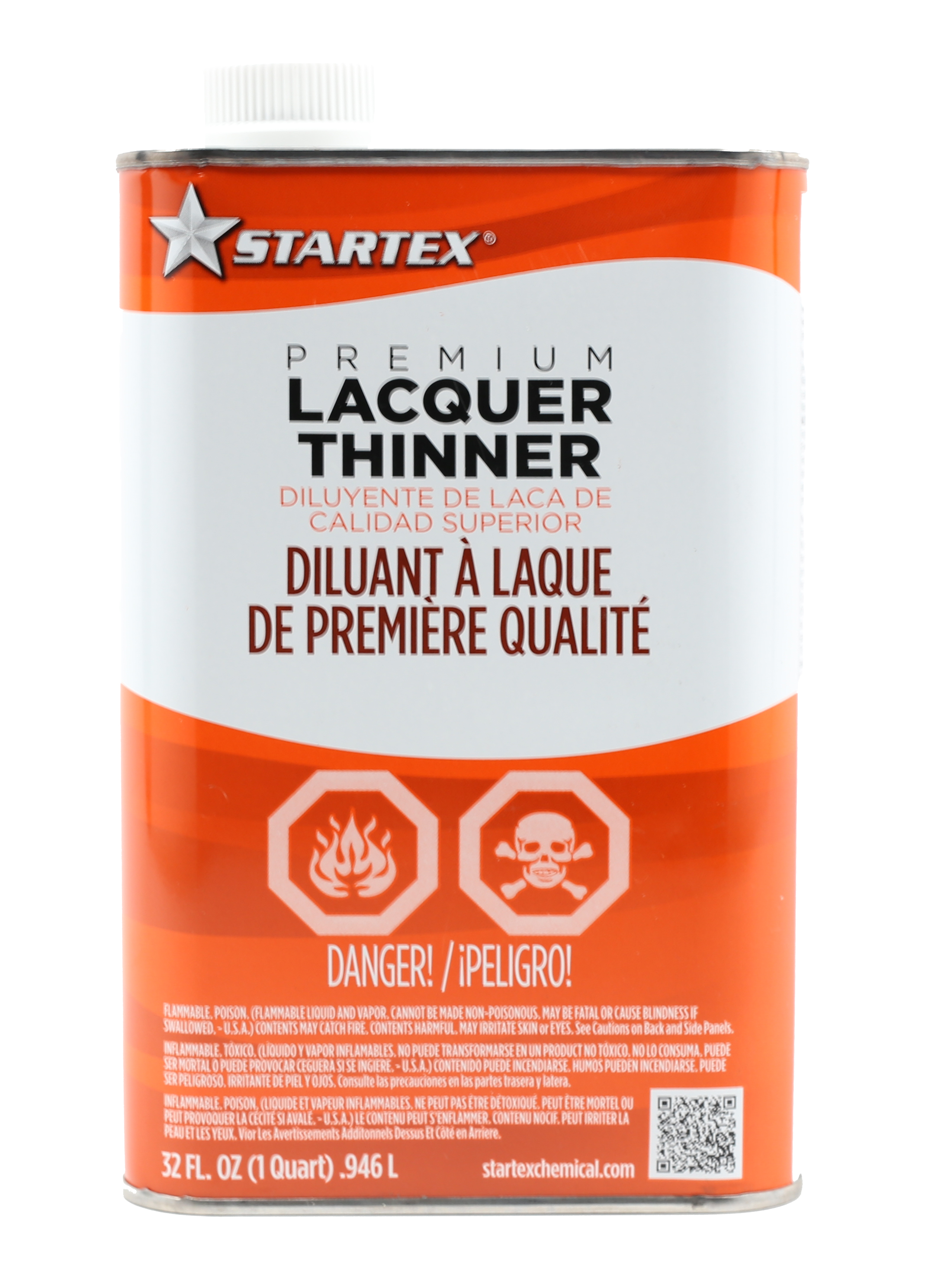 one quart lacquer thinner for paint application and clean up