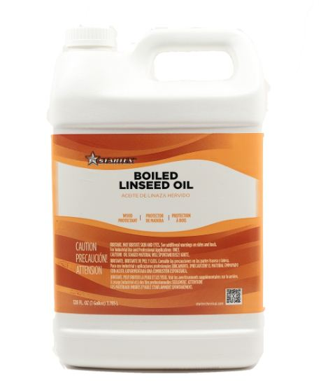one gallon of boiled linseed oil for paint application